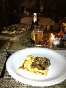 Massapê, pizza e cerveja